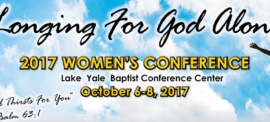 October 2017 Lake Yale Baptist Women's Conference
